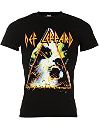 Def Leppard Hysteria oficial banda camiseta de manga corta para hombre negro música superior T Camisa