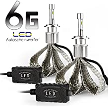 AFTERPARTZ® 2 * 6th Generation Kit de conversión de faros LED bombillas 60W 9000LM Chip Philips <55 ° C (H7)
