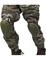 AIRSOFT tactique réglable genou de la douleur du coude Coussinets + Ensemble de protection de engrenages Sports chasse de souris Shooting–Expédié depuis Toledo