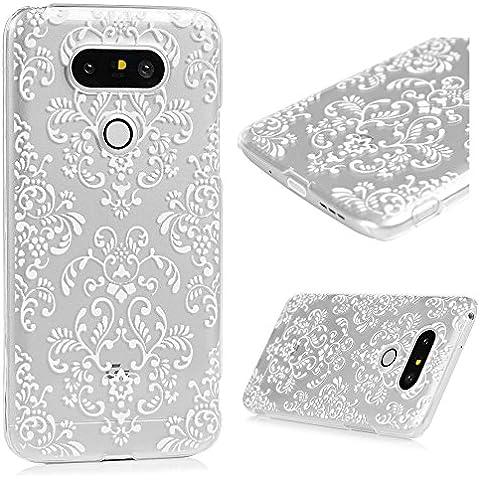 LG G5 Funda Cubierta - Lanveni Carcasa Rigida PC ultra delgada para LG G5 Transparente Protective Case Cover - Patrón El Flower Palace Diseño