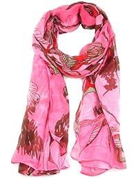 chinkyboo 2015 Fashion Women Ladies Long Chiffon Shawls Scarves Wrap Begonia Flower Ink Pattern