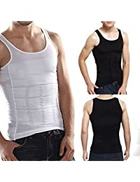 Rapid Men's Slim Lift Innerwear Slim Look Tummy Shapers Tummy Trimmer Body Shapewear Black Vest