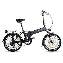 IC Electric Mini Bicicleta plegable, Unisex adulto, Negro, Única