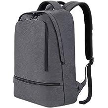 REYLEO Mochila de Portátil Laptop Mochilas Impermeables del Negocio, Ocio, Diaro, Viaje - 21L Gris