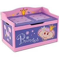 """Kindertruhenbank """"Princess"""" mit intergrierter Spielzeugkiste Kinderbank Kindermöbel Holzbank Spielzeugtruhe preisvergleich bei kinderzimmerdekopreise.eu"""