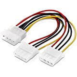 adaptare 34003 15 cm Netzteil Y-Kabel für 4-polig IDE-/Molex-Strom-Stecker weiß - gut und günstig