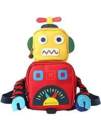 Y-BOA Sac à Dos De Sécurité Mignon Robot Enfant Fille Garçon Maternelle Backpack École Loisir Jaune