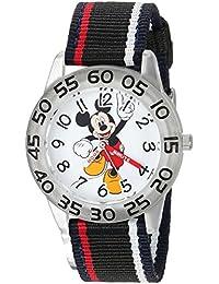 Disney Boy's 'Mickey Mouse' Quartz Plastic and Nylon Casual Watch, Color:Black (Model: WDS000517)