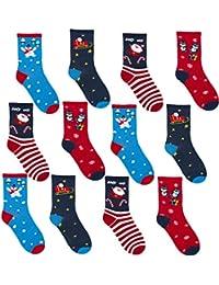 Ladies Christmas Fun Novelty Socks 12 Pack Uk 4-7 (Eur 37-39)