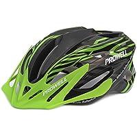 Prowell F59R Vipor casco da bicicletta, nero verde, Medium, include luce SharkFIN gratuita, del valore di