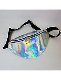EDTara Sports Waist Bag Women Shiny Holographic Waist Fanny Packs With Adjustable Waistband-Smartphone Money Coins...