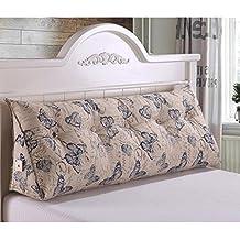 WTL almohada Respaldo de cabecera sofá de almohada de la cama del triángulo almohadones largos almohadilla grande de la almohadilla con la base desmontable lavable los 60 * 22 * 50cm ( Color : A )