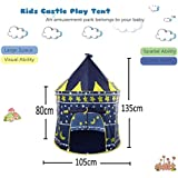Play House - Indoor & Outdoor Castle Play Tent - Foldable Tent With Carry Bag - Perfect For Girl's Boy's Kids Gifts - Playhouse, Play Hut By KARP - Dark Blue Color