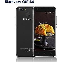 Cellulari in Offerta, Blackview A7 Pro 5.0 pollici 4G Smartphone Dual SIM con Android 7.0, 2GB RAM 16GB ROM, 2800mAh batteria, Fotocamera Posteriore 8MP/0.3MP, GPS/GLONASS/Fingerprint ID, Nero