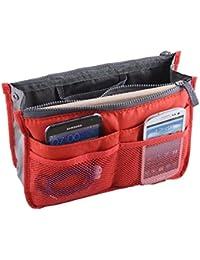 PANYTOW Hee Grand Women's Handbag Organiser Liner Tidy Travel Cosmetic Pocket Insert 12 Pockets Large Orange
