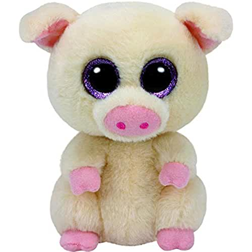 peluches TY - Beanie Boos Piggley, cerdito, 15 cm (United Labels Ibérica 37200TY)