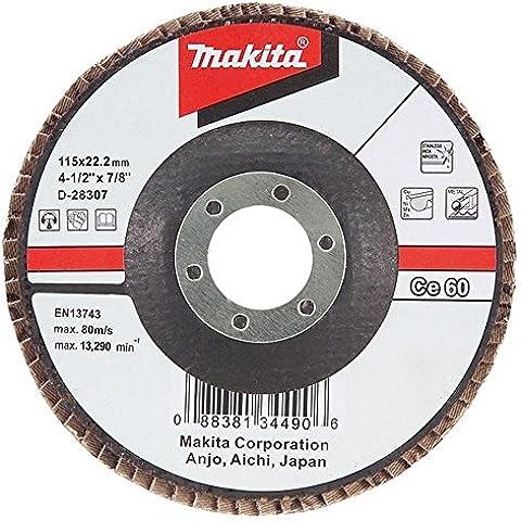 Makita D-28385 - Disco De Laminas 180 Curvo De Aluminio Ceramico Grano 60 Con Cuerpo De Fibra De Vidrio
