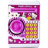 Amaz-Hub Hello Kitty Money Safe Kids Piggy Savings With Electronic Lock ATM Bank| New Hello Kitty Shape Latest Money Safe Kids Piggy Savings With Electronic Lock ATM Bank|Kids Coin Bank Pink