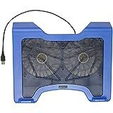 Kit USB Kühlung Schreibtisch Pad mit dual Fans für 30,5–35,6cm Laptops und Notebooks–schwarz Blau blau - gut und günstig