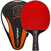 Ancees Table Tennis bat, Professional Table Tennis Racket with Bat Case and 2 Balls ITTF Approved Rubber Ping Pong Racket Paddle with Great Spin and Control(7-ply wood & 2-ply carbon)