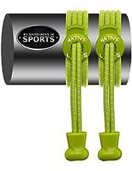 CORDONES AKTIVX SPORTS – Cierre Elástico sin atadura, Cordones de Repuesto, Color Marrón