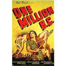 One Million B.C. Póster de película B 11x 17en–28cm x 44cm Victor Mature Carole Landis Lon Chaney Jr. Conrad Nagel John Hubbard