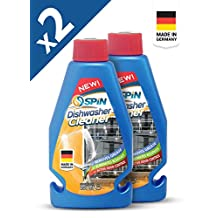 SPIN Dishwasher Machine Cleaner – Made in Germany, Bundle of 2 Bottles (2 x 250ml)