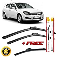 Set of 3 flat blade wiper blades for 0PEL ASTRA H 2004-2014 rear wiper