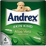 Andrex peau Kind Enrichie en Aloe Vera Rolls toilettes Tissue - 160 feuilles par rouleau (4) -