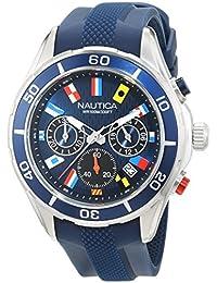 Nautica Herrenuhr Analog Quarz mit Silikonarmband – NAD16534G