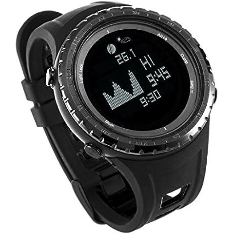 Mejor ES Digital deporte pesca reloj con funciones de altímetro, barómetro y marea   Pesca impermeable elegante y deportivo reloj con 12 funciones al aire libre esenciales de Express