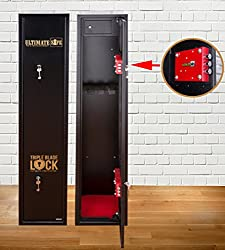 Ultimate Safe® 5 Gun Cabinet for Shotguns and Rifles With Unique Triple Blade Lock® With Internal Ammunition Box Compliant With BS7558/92