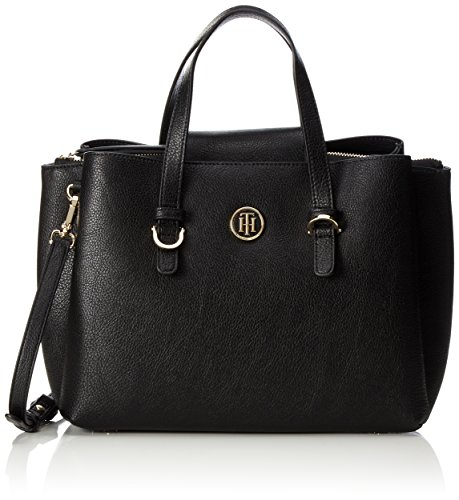 Tommy Hilfiger Damen Th Core Satchel Tornistertasche, Schwarz (Black), 15 x 23 x 26 cm