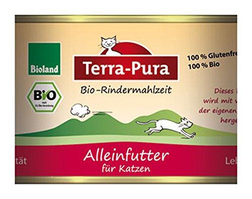 Bio-Rindermahlzeit Katzenfutter 200g Terra-Pura