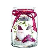 Leonardo 045188Glas rot, transparent, Weiß Kerzenhalter