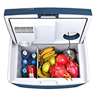 ZZWBOX Car Cooling and Warming Mini Fridge,Portable Icebox Travel Box,35L 12V Cooler&Warmer Refrigerator Heating Food Electric Mini Fridge for Home,Office, Car or Boat,Blue