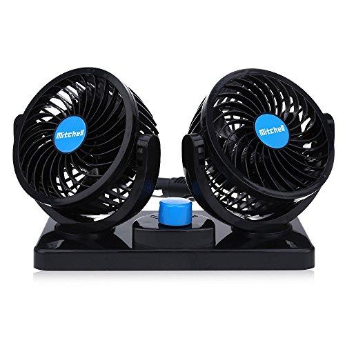 Xhope Mini Auto Ventilator Vechicle Ventilator, 2 Gänge, 360 Grad drehbar, Auto Kühler Klimaanlage Ventilator für Autos, LKW, Busse, Off-Road-Ausrüstung, Boote und andere Freizeitfahrzeuge, 12V/8W (Cool-kühler-ausrüstung)