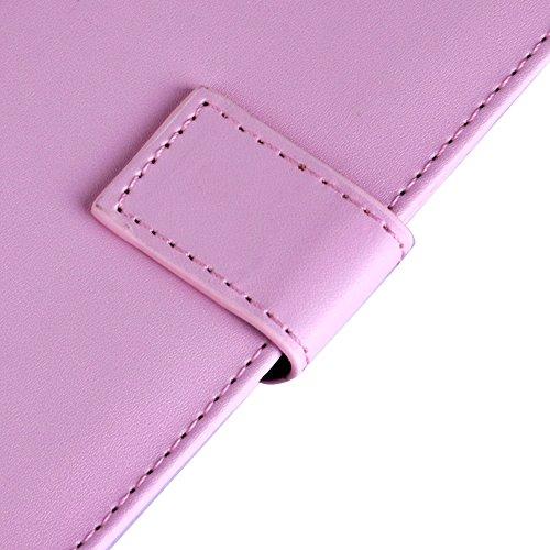 Apple iPhone 6 Handyhülle inklusive Displayfolie Lila Blumen Brieftasche pink