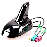 Shark Antenne GPS GSM FM/AM Dachantenne Fakra für RNS 510 Golf 5 6 GTI R36 Touran Passat Jetta Sharan Tiguan Beetle Touareg Navi Telefon Radio Funktion