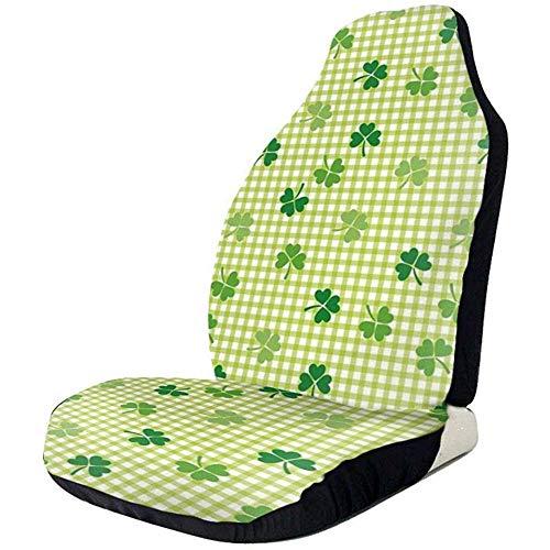 Be-ryl-Cars seat covers Coprisedili per Auto Simpatici quadrifogli Verdi Piante da Giardino Sedili Anteriori e Posteriori in Poliestere Stampato a grandezza Naturale 2 Pezz