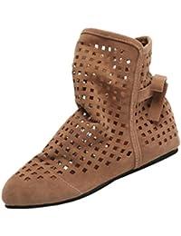 13c3825a2 ZODOF Botas de Mujer Planas Ocultas Bajas cuñas Botines de Tobillo Zapatos  Casuales Botines Lindos
