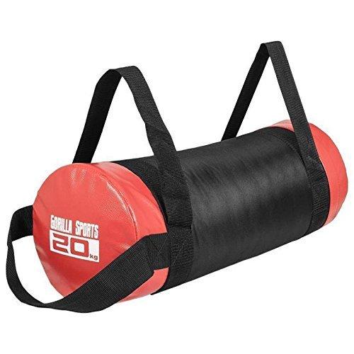 Gorilla Sports Sandbag - Powerbag für Krafttraining, schwarz/rot ,20 kg