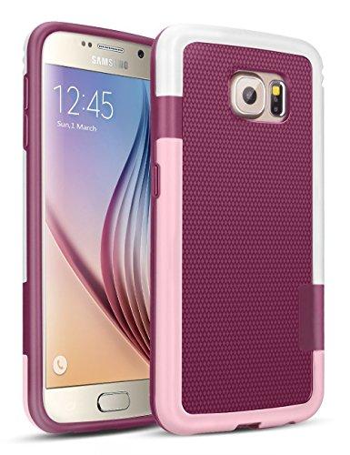 Galaxy S6 Funda - [Ultra Hybrid] HanLuckyStars Funda Carcasa Case TPU Matte Shell Exact Bumper Tope Shock Protección Gota Anti-Arañazos , Choque Absorción Borrar Espalda para Samsung Galaxy S6