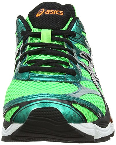 Asics Gel-Cumulus 16, Scarpe sportive, Uomo Flash Green/Black/Flash Orange 8599