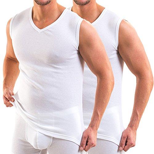 ca956f5a975a51 HERMKO 16050 2er Pack Herren Business Unterhemd mit V-Ausschnitt