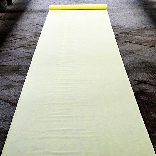 Llhy ditan tappeti e tappeti celebrazione di matrimoni di una volta spessa 0,5 mm, larghezza 1 m, 20 metri di lunghezza, 8 colori disponibili cc (colore : giallo chiaro)