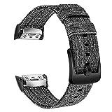 TRUMiRR Gear Fit2 Pro Bracelet de Montre, Bracelet de Montre en Nylon tissé véritable Bracelet de Sport pour Samsung Gear Fit 2 SM-R360 / Gear Fit2 Pro SM-R365 Smartwatch