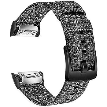 TRUMiRR Gear Fit2 Pro Bracelet de Montre, Bracelet de Montre en Nylon tissé véritable Bracelet