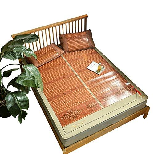 Liuyu · Tapis en bambou double 1,8 m Lit trois ensembles de pliage d'été 1,5 mètre Simple double 1,8 Tapis en soie de glace d'été 1 Icy sans bavure 2 Duplex disponible 3 Aucune peinture ne se fane pas