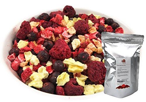 TALI Bunter Beeren Mix 175 g - Gefriergetrocknete Ananas, Erdbeeren, Himbeeren, Schwarze Johannisbeeren